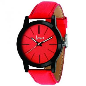 Women's Watches   Round Dial   Leather Belt   Analog - Ismart Womens Wrist Watch's