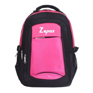 Pink And Black Modish School And College Back Pack