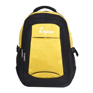 Yellow And Black Modish School And College Back Pack