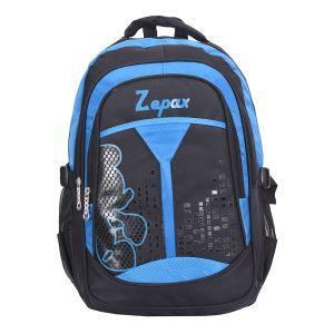 Black And Blue Flashy School Bag