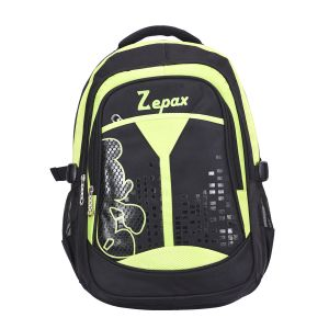 Black And Green Flashy School Bag
