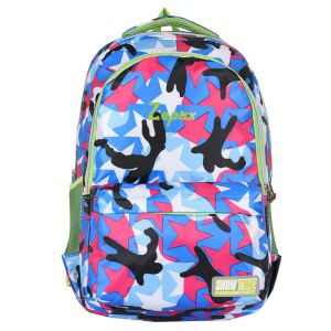 Multi Colour Printed School And Casual Backpack