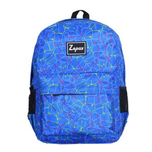 Blue Stylish Printed Casual Back Pack