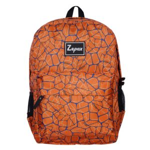 College Bags - Orange Stylish Printed Casual Back Pack