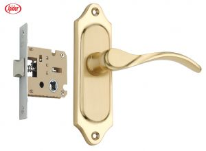 Spider Solid Brass Baby Latch Keyless Lock Complete Set With Brass Polish Finish (code- Fb55b Sbl )