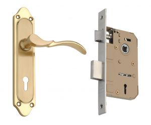 Spider Solid Brass Mortice Key Lock Set With Brass Polish Finish (code- Fb56m Emls)