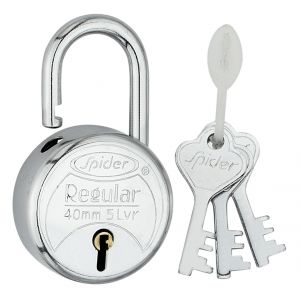 Spider Regular Pad Lock 3keys Pack Of 5 (code - Rp40 )