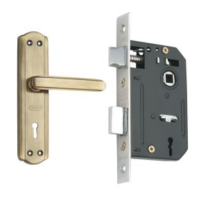 Spider Steel Mortice Key Lock Complete Set With Antique Brass Finish (code- S606mab Rml4)