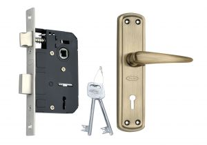 Spider Steel Mortice Key Lock Complete Set With Antique Brass Finish (code-s811mab Rml4)