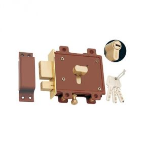Spider Side Door Lock Pin Cylindrical Double Action 3 Brass Computer Keys Pack Of 1(code-sdl6c)