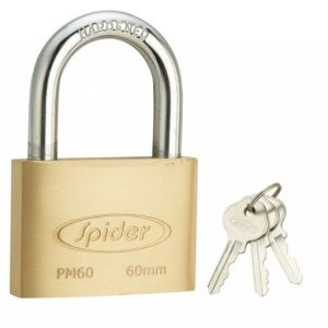 Spider Cylindrical Solid Brass Pad Lock 3 Keys [ PM ]