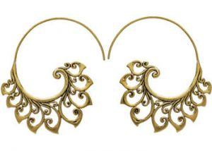 Sparkle Brass Plated Earrings(code - Er-015)