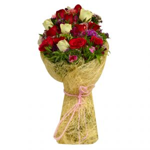 Flower Arrangements - Flaberry Red & White Roses