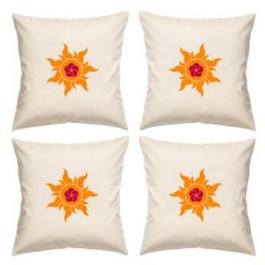 Furnishings - Digital Print Canvas Cushion Cover 16 Inches Set Of 4 By Admire Home (code - Sofa Ahcc003)
