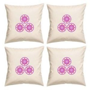 Digital Print Canvas Cushion Cover 16 Inches Set Of 4 By Admire Home (code - Sofa Ahcc005)