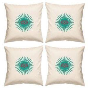 Digital Print Canvas Cushion Cover 16 Inches Set Of 4 By Admire Home (code - Sofa Ahcc007)
