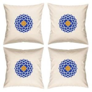 Digital Print Canvas Cushion Cover 16 Inches Set Of 4 By Admire Home (code - Sofa Ahcc009)