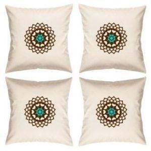 Digital Print Canvas Cushion Cover 16 Inches Set Of 4 By Admire Home (code - Sofa Ahcc010)