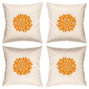 Digital Print Canvas Cushion Cover 16 Inches Set Of 4 By Admire Home (code - Sofa Ahcc011)