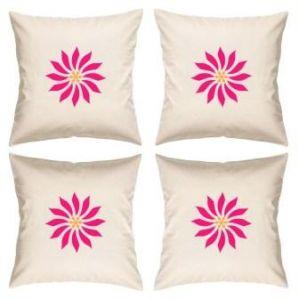 Digital Print Canvas Cushion Cover 16 Inches Set Of 4 By Admire Home (code - Sofa Ahcc014)
