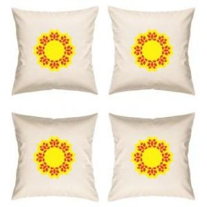 Digital Print Canvas Cushion Cover 16 Inches Set Of 4 By Admire Home (code - Sofa Ahcc015)
