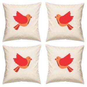 Digital Print Canvas Cushion Cover 16 Inches Set Of 4 By Admire Home (code - Sofa Ahcc016)