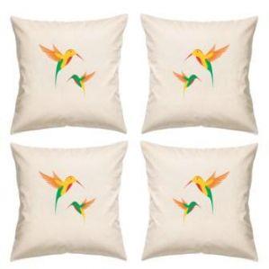 Digital Print Canvas Cushion Cover 16 Inches Set Of 4 By Admire Home (code - Sofa Ahcc020)