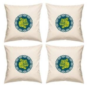 Digital Print Canvas Cushion Cover 16 Inches Set Of 4 By Admire Home (code - Sofa Ahcc022)