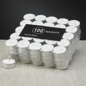 Tealight Candels Pack Of 100 PCs Value Buy 4 Hrs