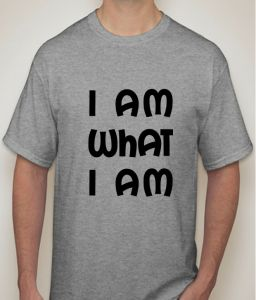 I AM What I AM Grey T-shirt For Men - ( Code -p0063801253 )