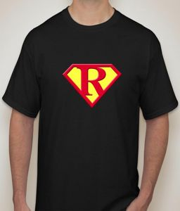Superman - R Black T-shirt For Men - ( Code -p0075700553 )