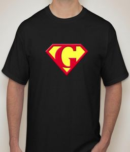 Superman - H Black T-shirt For Men - ( Code -p0077400553 )