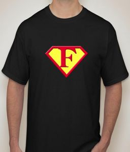 Superman - F Black T-shirt For Men - ( Code -p0077900553 )