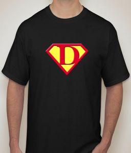 Superman - D Black T-shirt For Men - ( Code -p0078100553 )