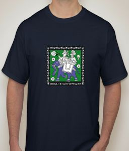 Indian Culture Navy T-shirt For Men - ( Code -p0080401853 )