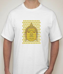 Buddha White T-shirt For Men - ( Code -p0081000453 )