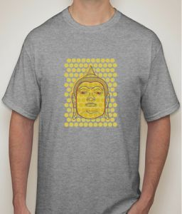 Buddha Grey Melange T-shirt For Men - ( Code -p0081001253 )
