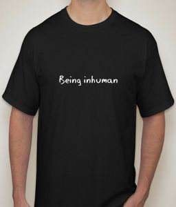 Being Inhuman Black T-shirt For Men - ( Code -p0082400553 )