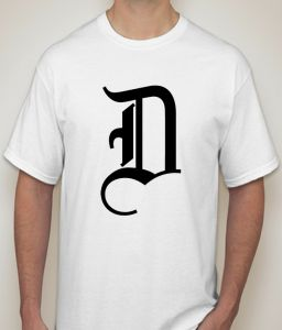 Initial Letter D White T-shirt For Men - ( Code -p0089000453 )