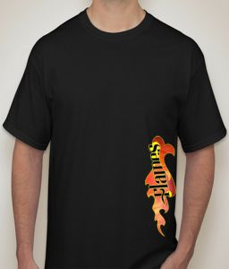 Flames Black T-shirt For Men - ( Code -p0097000553 )