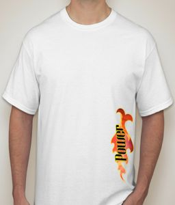 Power White T-shirt For Men - ( Code - P0097900553 )