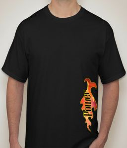 Power Black T-shirt For Men - ( Code - P0097900553 )