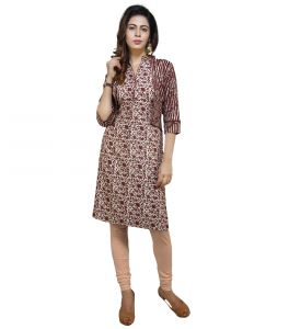 Vedika Creations Cotton & Rayon Multi Color Designer Kurti(code-vcduwckttc -110)