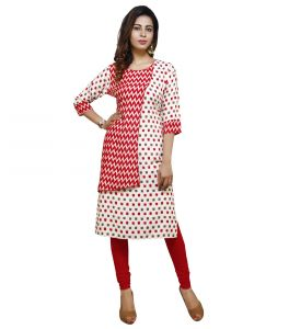 Vedika Creations Cotton & Rayon Multi Color Designer Kurti(code-vcduwckttc -119)