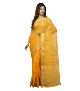 Vedika Creations Yellow Colour Supernet Saree Fancy Sari(code-vcncdsss-19)