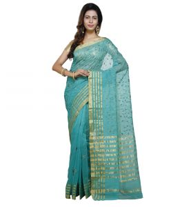 Vedika Creations Green Colour Supernet Saree Fancy Sari(code-vcncdsss-22)