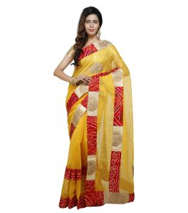 Vedika Creations Multi Colour Supernet Saree Fancy Sari(code-vcncdsss-30)