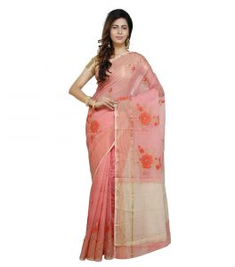 Vedika Creations Peach Colour Supernet Saree Fancy Sari(code-vcncdsss-36)