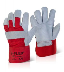 Vedika Creations Chrome Red Color B-flex Splite Hand Gloves(code-vcrcbfg)