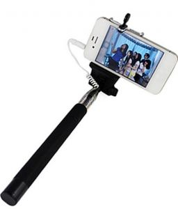 Monopod Extendable Selfie Stick With 3.5mm Aux Cable